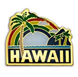 KC Hawaii Lapel or Hat Pin Palm Tree Green, Yellow One Size