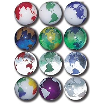 Amazon Com Earth Marbles Complete Set In Assorted Colors