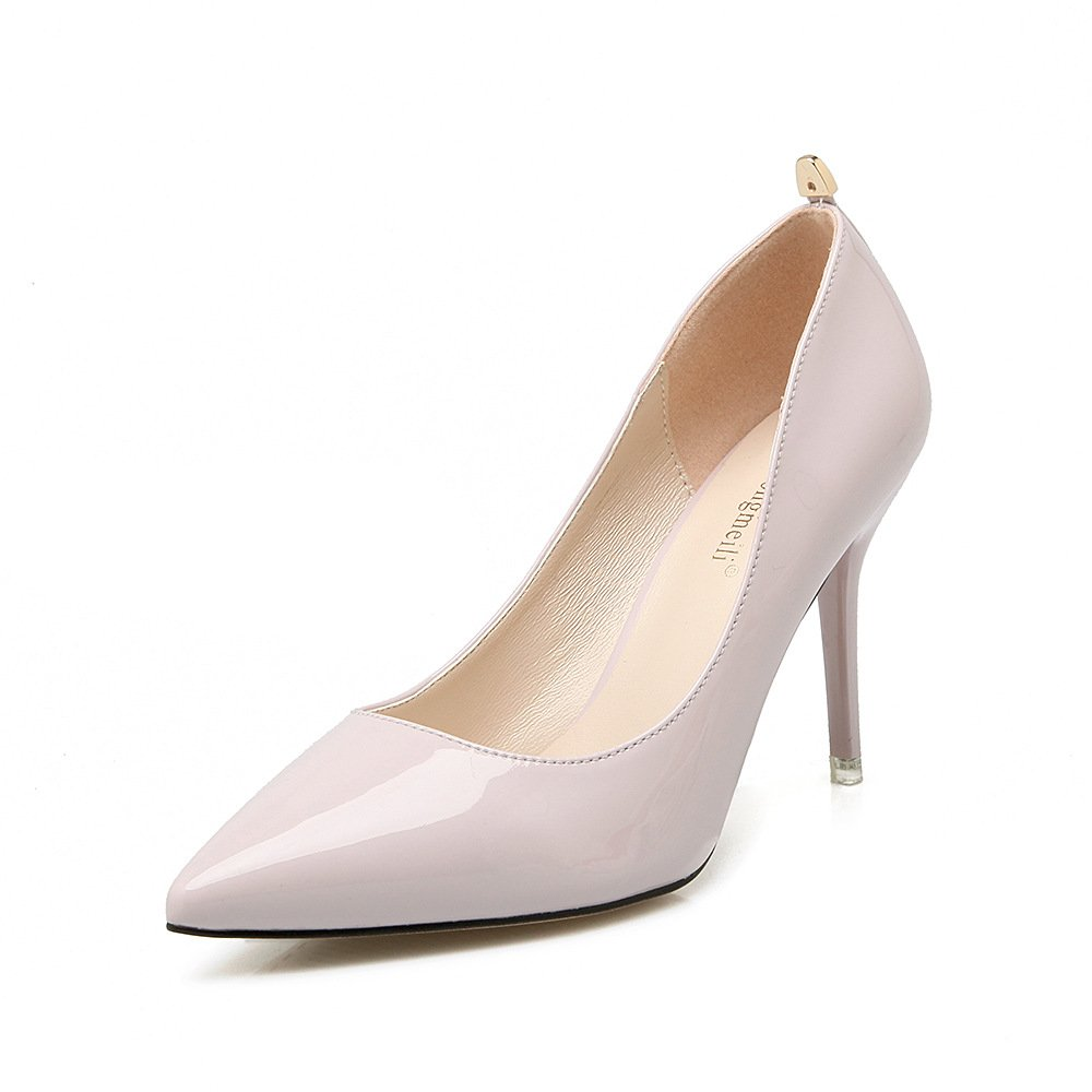 Tip high heels tip fine with 9cm, metal night shoes Korean version of the light purple,37 by YLSZ-High heels (Image #1)