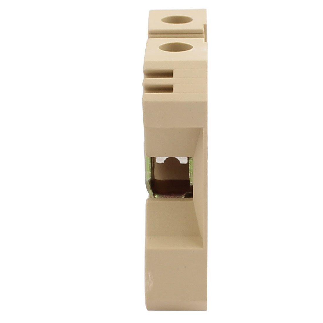Amazon.com: eDealMax 50pcs 52x50x12mm 800V 76A 16mm2 SAK-16ES DIN Terminal de trenes de bloque conector de Color caqui: Electronics