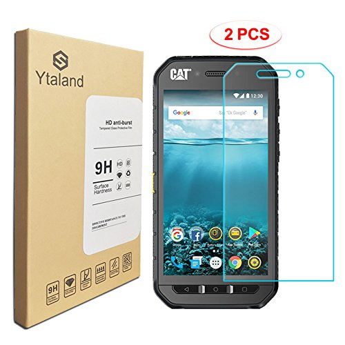 [2 Pack] Ytaland Screen Protector for Cat S41, [0.3mm, 2.5D] [Anti-Fingerprints] [Bubble-Free] [9H Hardness] [HD Clear] Tempered Glass for Cat S41