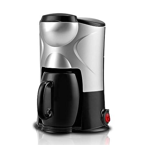 Máquina de café pequeña mini automática de goteo en casa cafetera de una sola taza,