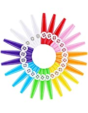 Wobekuy 24 Pieces Plastic Kazoos 8 Colorful Kazoo Musical Instrument, Good Companion For Guitar, Ukulele, Violin, Piano Keyboard, Great Gift For Music Lovers (24 Pieces)