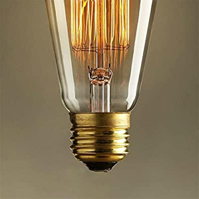 NEW Edison Vintage Bulbs - 6 pack - Senbao Bulbs - 60W Incandescent - Clear Glass - ST64 Squirrel Cage - Dimmable