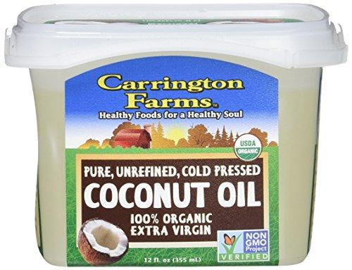 Carrington Farms Organic Extra Virgin Coconut Oil, 12 Ounce, Packaging May Vary
