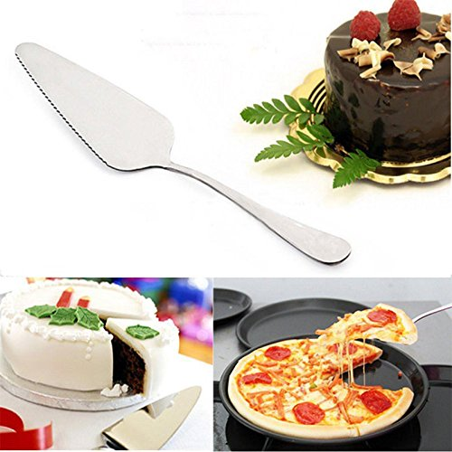 FidgetGear Stainless Steel Pizza Pie Server Cutting Shovel Tool Toothed Cheese Cake Cutter from FidgetGear
