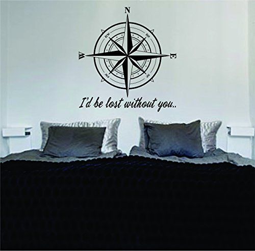 Compass Without Quote Nautical Sticker product image