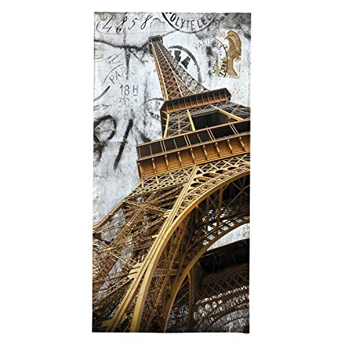 OZINCI 3D Printing Paris Eiffel Tower Themed Beach Towel, Perfect for Beach and Swimming Pool for Both Adults and Kids, Turkish Cotton Towel, Over Sized Super Soft Absorbent Large Towels