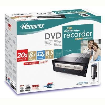 Imation Memorex 20x DVDRW DL USB 2.0 External Drive (Disc...