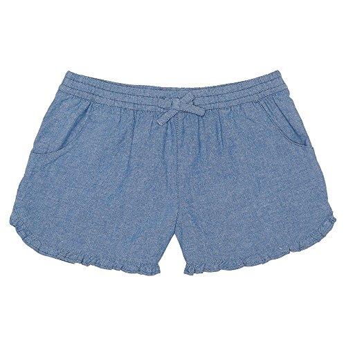 Girls Chambray Shorts (French Toast Girls'  Ruffle  Short, Washed Chambray 6X,Little)