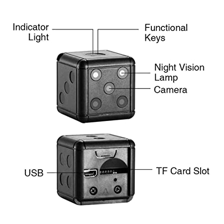 Amazon.com : et sq16 Mini Camera 1080p hd Video Recorder Infrared Night Detection Micro Camera Keychain 360 Degree Rotation Digital Camera : Camera & Photo