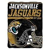 "Officially Licensed NFL Jacksonville Jaguars ""40 Yard Dash"" Micro Raschel Throw Blanket, 46″ x 60″, Multi Color"
