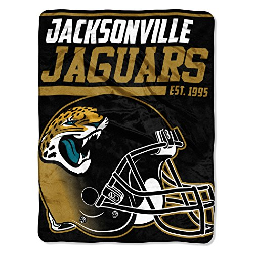 The Northwest Company NFL Jacksonville Jaguars 40 Yard Dash Micro Raschel Throw, 46