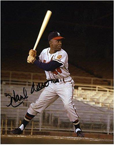 Hank Aaron Milwaukee Braves Autographed 8