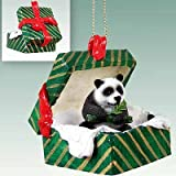 Panda Bear Gift Box Christmas Ornament - DELIGHTFUL!