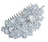 Sindary Wedding Headpiece 4.13 Inch Silver-tone Clear Rhinestone Crystal Flower Hair Comb