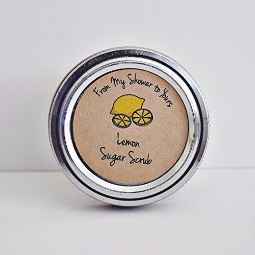 Lemon Sugar Scrub Labels for Bridal and Baby Shower Favors, From Our Shower To Yours, by Once Upon Supplies, 2'' Diameter, 40 Pcs by Once Upon Supplies (Image #2)
