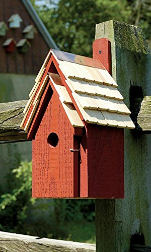 BestNest Heartwood Bluebird Manor Bird House, Red ()