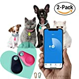 Wireless Key Finder | Spy GPS Tracker Smart Finder Bluetooth Locator Wireless Anti Lost Alarm Sensor For Key Wallet Car Kids Pets Dog Cat Child Bag Phone Located Selfie Shutter - 2 pack by ME Superb