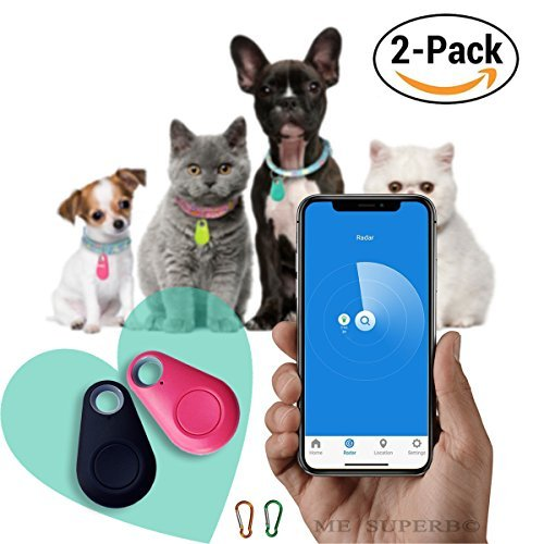 Wireless Key Finder | Spy GPS Tracker Smart Finder Bluetooth Locator Wireless Anti Lost Alarm Sensor For Key Wallet Car Kids Pets Dog Cat Child Bag Phone Located Selfie Shutter - 2 pack by ME Superb by ME Superb Deals