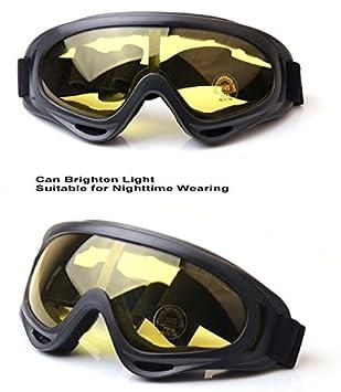 Worldshopping4U Tactical UV400 viento Polvo Kite Surfing Jet Ski Gafas de protección ocular Gafas Airsoft, Paintball Caza Transparente transparente: ...