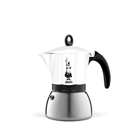 Bialetti 4933 Moka Induction Espresso Maker, White