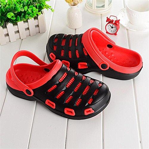 Kemosen Zapatillas de Jardín EVA Unisex Pareja Sandalias Ultra-Ligeras Zapatillas Playa Para Mujer Chanclas Negro