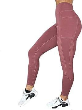Mallas Deportivas de Mujer, Mujer Pantalones elásticos de yoga con ...