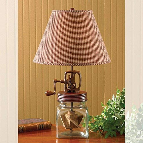 Park Designs Butter Churn Lamp,Red, Clear