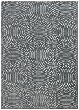 Rivet Modern Wave Cosmopolitan Rug, 5' x 7', Moss
