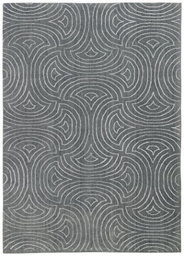 Rivet Modern Wave Cosmopolitan Rug, 5' x 7', Moss by Rivet