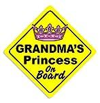 Grandma's Princess On Board Car Stick...
