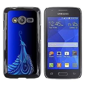 Caucho caso de Shell duro de la cubierta de accesorios de protección BY RAYDREAMMM - Samsung Galaxy Ace 4 G313 SM-G313F - Blue Dragon