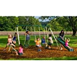 Backyard Swinginu0027 Fun Metal Swing Set Features 5 Activities That Will Keep  8 Kids Busy