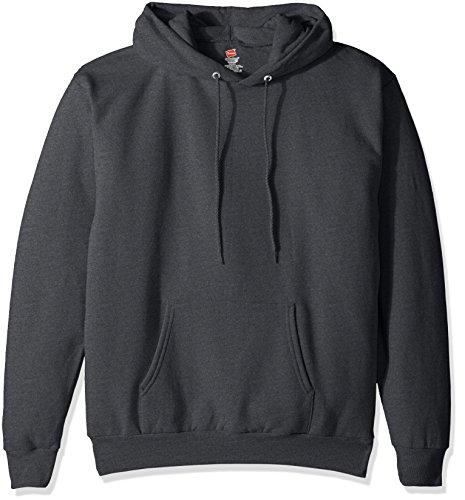 Sudadera con capucha Ecosmart Fleece para hombre de Hanes, color gris carbón, XL