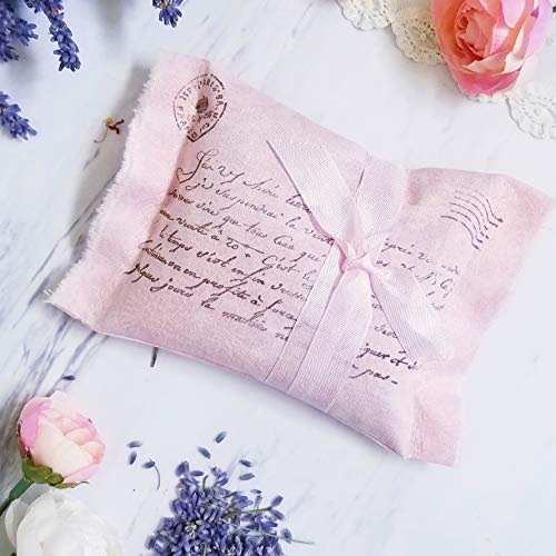 Pink Shower Damask Bridal (Uplifting and Romantic Lavender Sachet (Sent with Love) - Fragrant Spa Gift for Beauty or Swag Bags, Bridal Shower Favor or Relaxation Potpourri)