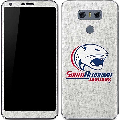 Skinit South Alabama Jaguars Heather Grey LG G6 Skin - Officially Licensed Learfield Collegiate Phone Decal - Ultra Thin, Lightweight Vinyl Decal Protection