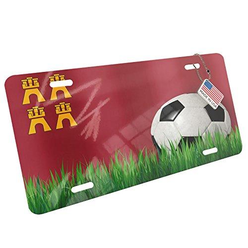 Metal License Plate Soccer Team Flag Murcia region Spain - Neonblond by NEONBLOND
