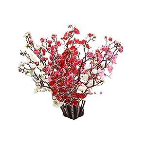 Lankcook Artificial Silk Fake Flowers Plum Blossom Floral Wedding Bouquet Party Decor 18