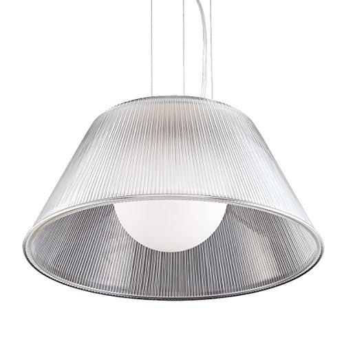 (Eurofase 23068-018 Ribo 1-Light Large Pendant, Chrome)