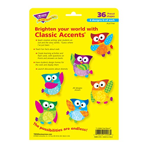 Trend Enterprises Owl-Stars! Classic Accents Variety Pack, 36 per Package (T-10996) Photo #2