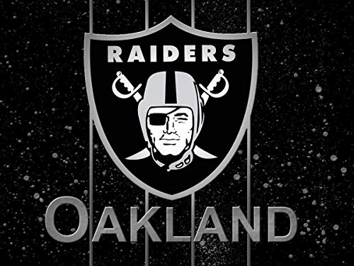 JUSSM Diamond Painting Full Round Drill NFL Team Logo Oakland Raiders American Football Flag Sport Husband Gift Crystal Cross Stitch 40x50cm