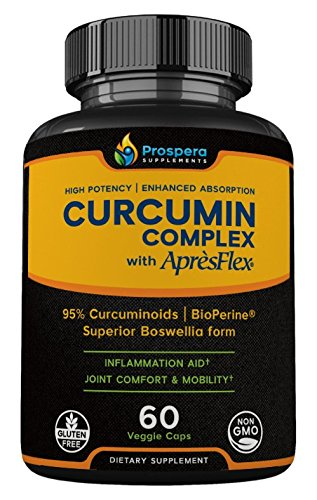 Prospera Curcumin Complex. Higher Potency, Optimized Absorption. Pure Turmeric Extract + AprèsFlex, Superior Boswellia. Shoulder & Joint Pain, Plantar Fasciitis. 60 Count. 2-Month Supply
