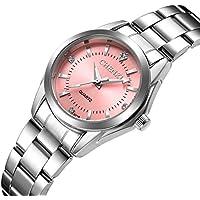 Women Quartz Watches Casual Fashion Waterproof Watches Diamond Rhinestone Luminous Wrist Watch - Pink