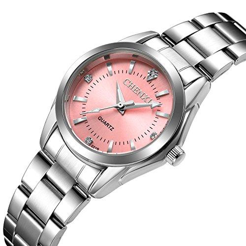 Women Quartz Watches Casual Fashion Waterproof Watches Diamond Rhinestone Luminous Wrist Watch...