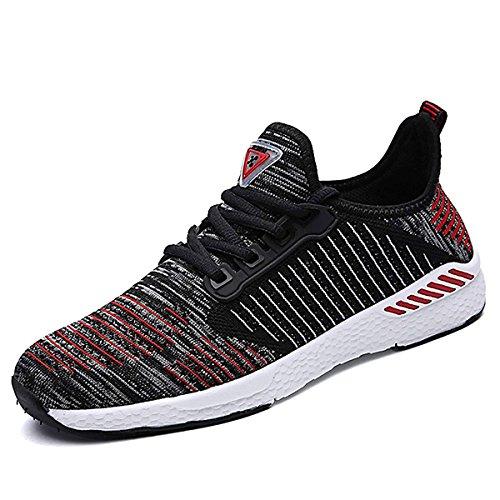 Athlétique Fitness Entraînement Noir Sneakers Sport Homme Chaussures de Rouge Compétition Trail Running Mode Femme CHNHIRA Respirantes Course Basket Courtes zORgqx