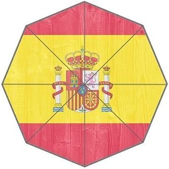 Bandera de España fondo triple plegable lluvia paraguas/sombrilla ...