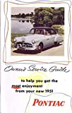 1951 Pontiac Owners Manual User Guide Reference Operator Book Fuses Fluids