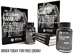 PacificCoast NutriLabs 1000mg L-Glutamine, Soy-Free Muscle Recovery Formula, Free Ebook, 120 Tablets