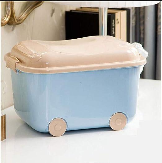 Shhaljj Caja de Almacenamiento de plástico Grande Cubierto con ...